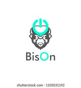 logotype design concept bison