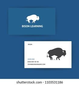 logotype design concept bison education