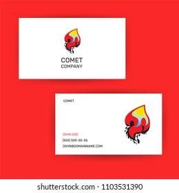 logotype design concept comet