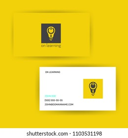 logotype design concept lighting bulb with on sign