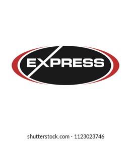 logotype of express text. vector logo.