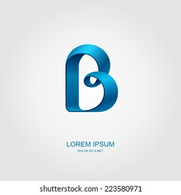"Logotype in the form of the letter ""B"", Abstract stylized business logo idea, Vector illustration Eps 10"