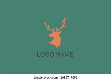 logotype icon vector logo deer