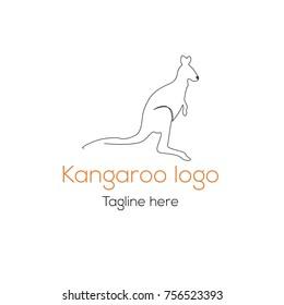logotype kangaroo character template magazines shop stock vector