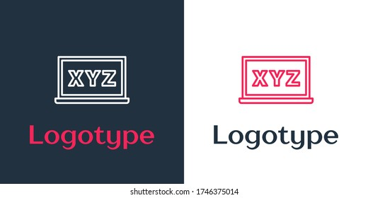 Logotype line XYZ Coordinate system on chalkboard icon isolated on white background. XYZ axis for graph statistics display. Logo design template element. Vector