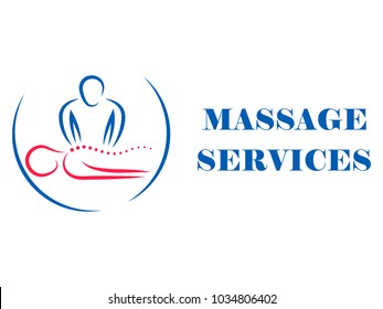 Logotype for massage salon and health treatments. SPA, physiotherapy, relaxation.