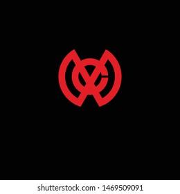 Logotype MC Abstract Template Simple Minimalist Cool Logo Vector