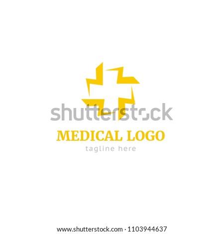 Logotype Medical Logo Vector Shop Store Stock Vector Royalty Free