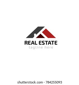 Logotype real estate company, logo vector for shop, house rent, building, repair, construction
