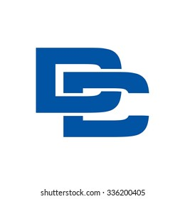 logotype template. letter mark logo vector. letter D and C.