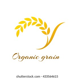 Logotype template with wheat.