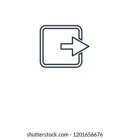 Logout concept line icon. Linear Logout concept outline symbol design. This simple element illustration can be used for web and mobile UI/UX.