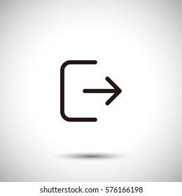 Logout icon. Exit vector