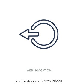 Logout icon. Logout linear symbol design from Web navigation collection. Simple outline element vector illustration on white background.