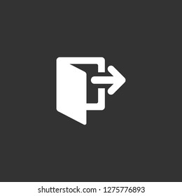 logout icon vector. logout vector graphic illustration