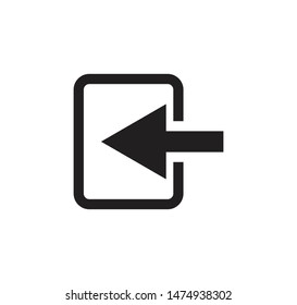 Logout sign icon vector web illustration