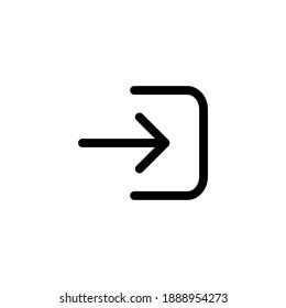 Logout vector icon. Logout illustration for web, mobile apps, design. Logout vector symbol.