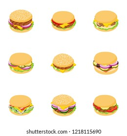 Loin icons set. Cartoon set of 9 loin vector icons for web isolated on white background