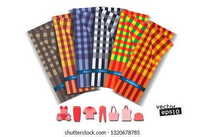 Loincloth made in Thailand. Use as a poster card, Thai identity menu. - Vector
