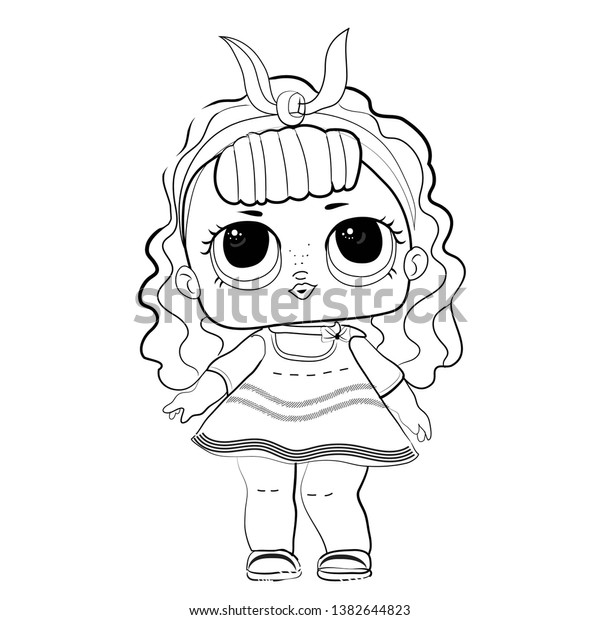 Lol Doll Coloring Book Popular Baby Stock Vector Royalty Free