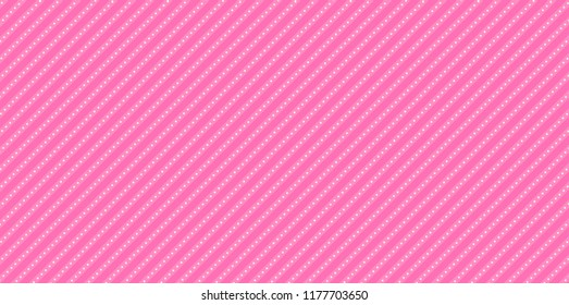 Lol doll vector background with stripes and polka dots. Cute rose backdrop for decoration girly party. Paper design for little princess. Hot pink abstract pattern for kids invitation
