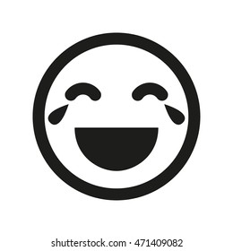 LOL smiley vector icon. Laughing with the tears smiley. Emoji image,