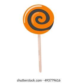 Lolipop candy symbol vector autumn fear creepy traditional sign