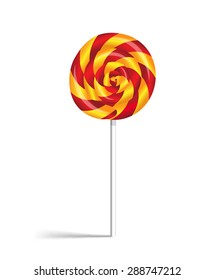 Lollipop candy isolated on white background.Vector illustration