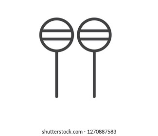 lollipop line icon illustration vector,lollipop line icon illustration design