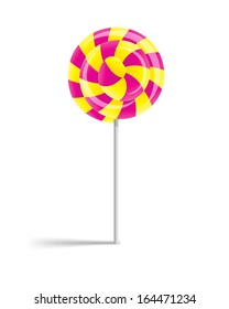 Lollipop on a white background.
