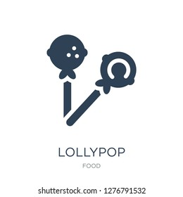 lollypop icon vector on white background, lollypop trendy filled icons from Food collection, lollypop vector illustration