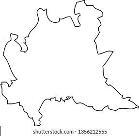 Lombardy. Map region of Italy