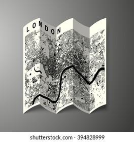 London 3D paper map