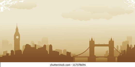 london abstract skyline
