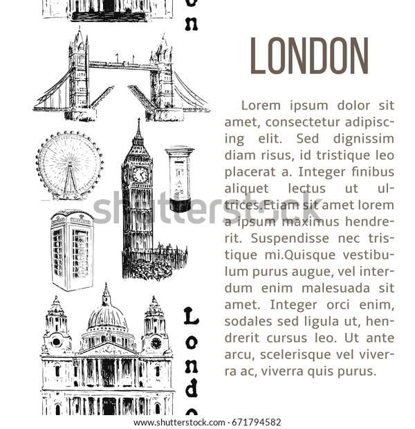 London Architectural Symbols Vertical Stripe Description