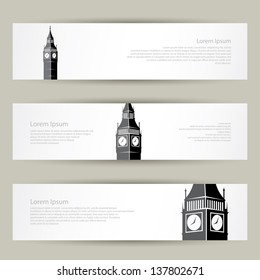 London banners - vector illustration