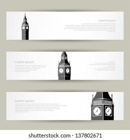 London banners - vector illustration