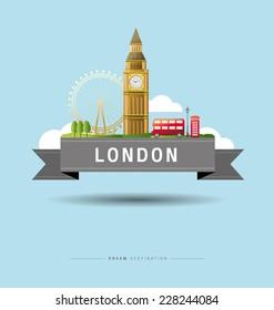 London and Big Ben, England, Landmark, travel