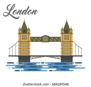 London bridge illustration design