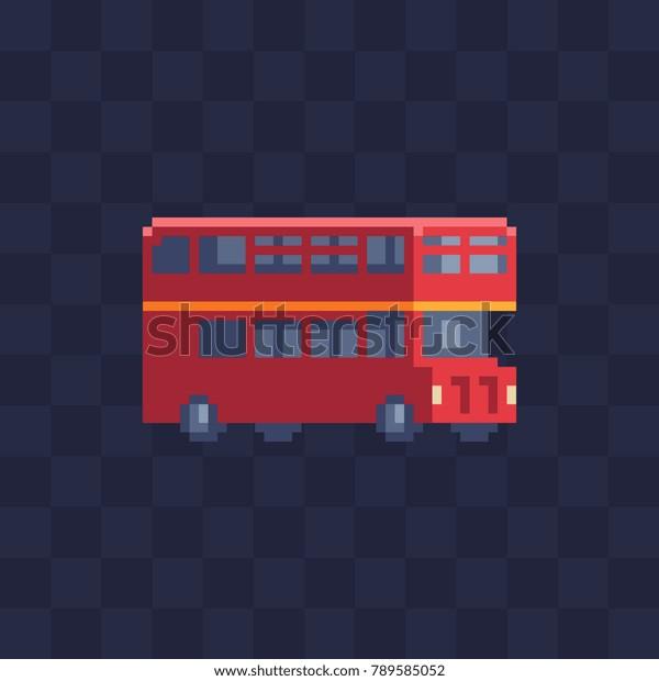 Image Vectorielle De Stock De London Bus Doubledecker Pixel