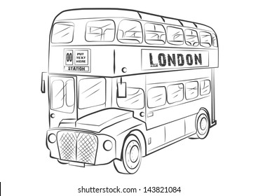 LONDON BUS SYMBOL OUTLINE