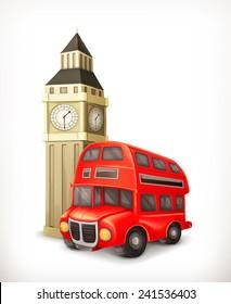 London Bus, vector illustration