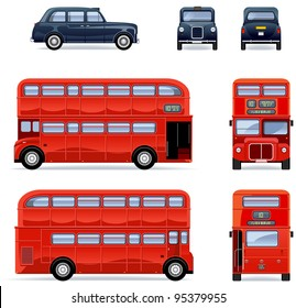 London city bus and cab (Set #33)