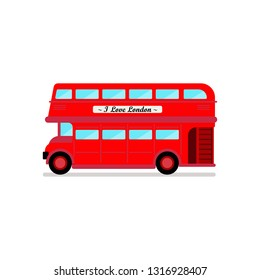London city bus vector illustration. Isolated on white background