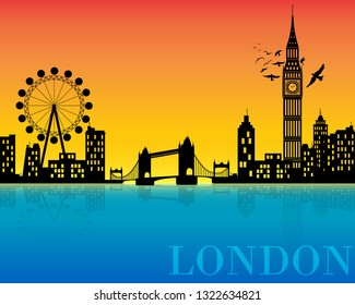 London city. Illustrator
