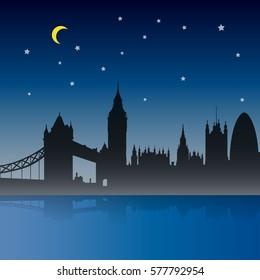 London City Night Scene