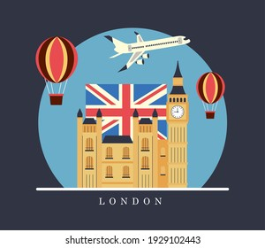 london city travel set stickers