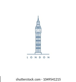 London city. Vector illustration.