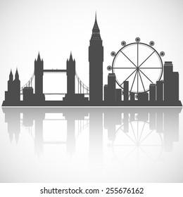 London cityscape. Vector city skyline