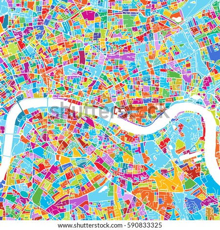 London Map Printable.London Colorful Vector Map Printable Outline Stock Vector Royalty